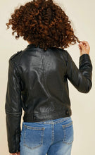 Load image into Gallery viewer, Girls Cropped Moto Jacket