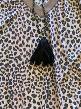 Load image into Gallery viewer, Vneck Leopard Waffle Top