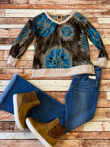 HM Vneck Brown Mix Top