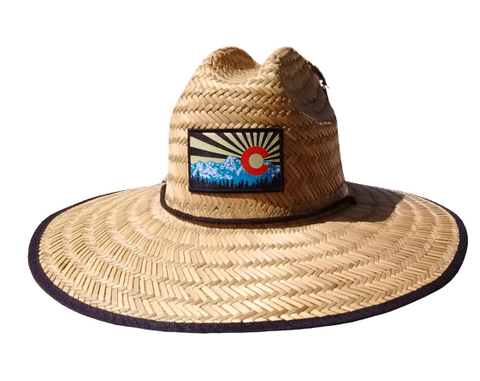 "Wide Brim ""Colorado Sky"" Sun Protection Hat - One Size fits Most - RMOHATS"