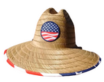 "USA Wide Brim ""Americana"" Sun Protection Hat - One Size Fits Most - RMOHATS"