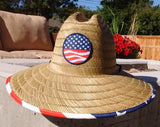 "Wide Brim ""Americana"" Sun Protection Hat - One Size Fits Most - RMOHATS"