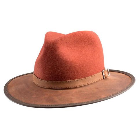 The Town & Country - Full Grain Leather with Natural Wool (Tuscan) - RMOHATS