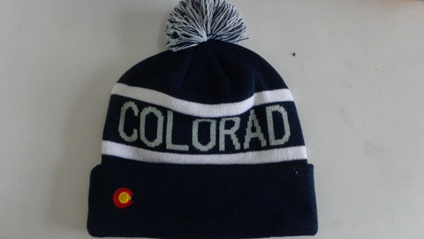 Colorado Flag Winter Beanie Stocking Hat - RMOHATS
