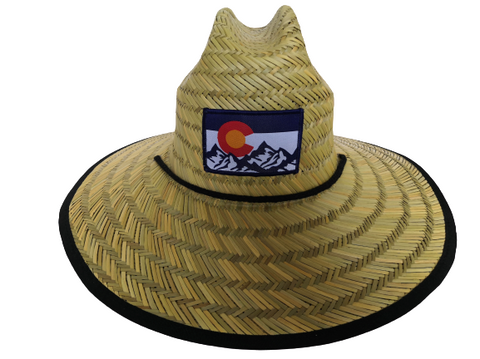 Colorado Flag Wide Brim Sun Protection Hat - One Size - Lifeguard Style - RMOHATS