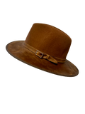 The Town & Country - Full Grain Leather with Natural Wool (Oak) - RMOHATS