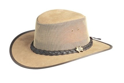 Aussie Breeze Leather/Mesh-New Buck - RMOHATS