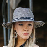 Ladies Packable Panama Style Sun Hat - Adjustable - RMOHATS