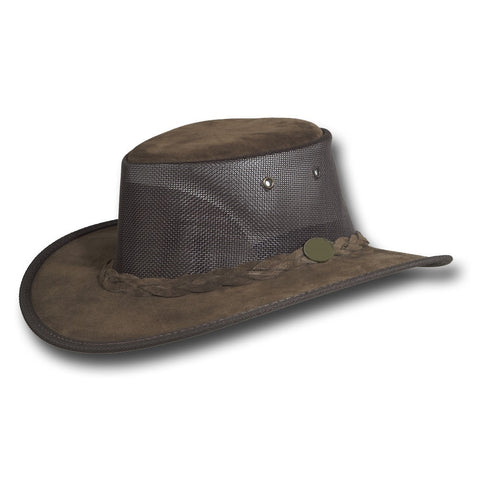Wide Brim Shapeable Suede Leather Hat - Packable & Waterproof - RMOHATS