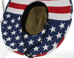USA Wide Brim Stars & Stripes Sun Protection Hat - One Size Fits Most - RMOHATS
