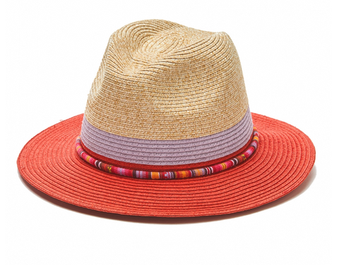 The Canon City - Beaded with Two Toned Brim and Crown