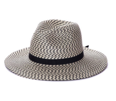 The Westcliff - Two Toned Black Panama Style - RMOHATS