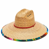 Wide Brim Tri-Color Sun Protection Hat - Palm Leaf - RMOHATS
