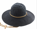 San Diego Sun Hat - Packable & Lightweight -  Black - RMOHATS