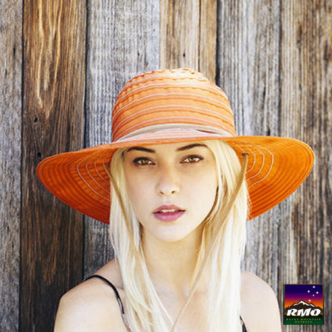 San Diego Sun Hat - Packable & Lightweight -  Orange - RMOHATS