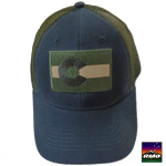 Sage & Green Colorado Flag Trucker Hat - RMOHATS