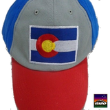 Colorado Flag Embroidered Baseball Hat - RMOHATS