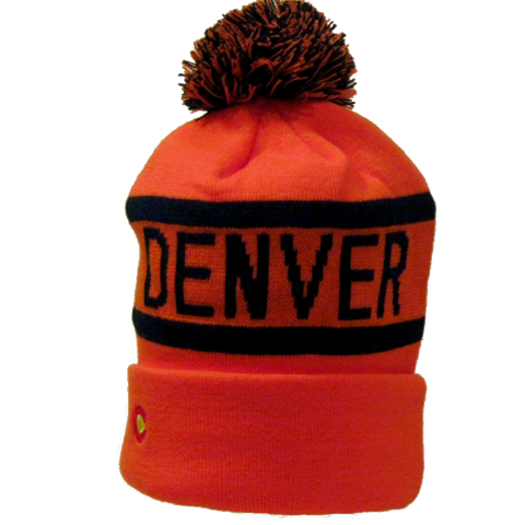 Denver Broncos Orange Crush Winter Beanie - RMOHATS