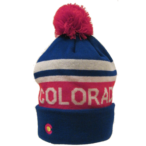 Colorado Flag Winter Beanie in Red White & Blue - RMOHATS