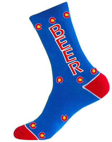 Colorado Flag BEER Sock - RMOHATS