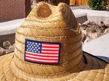 Wide Brim Stars & Stripes Sun Protection Hat - One Size Fits Mosts - RMOHATS
