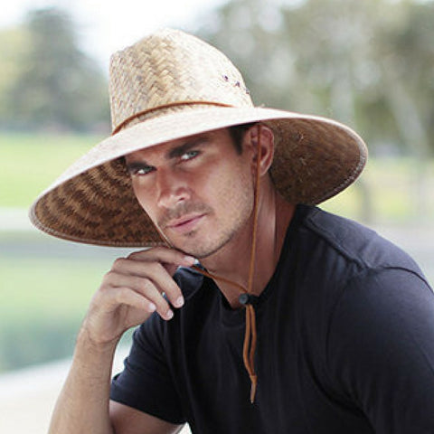 Lifeguard Shade Hat - Wide Brim Palm Leaf - Waterproof Finish - RMOHATS