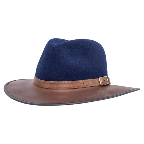 Town and Country  - Full Grain Leather & Wool (Sapphire) - RMOHATS