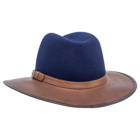 by RMO HATS The Town /& Country:  Plush Leather and Wool Blend Waterproof and Packable Made in the USA