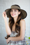 Wrap Around Sun Hat - Black Tweed - RMOHATS