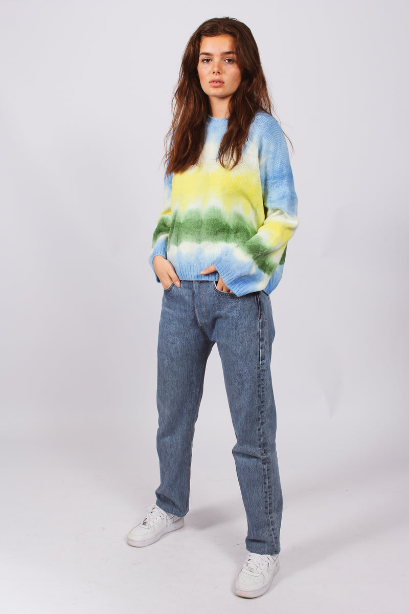 Reuse Oversized Tie Dye Jumper