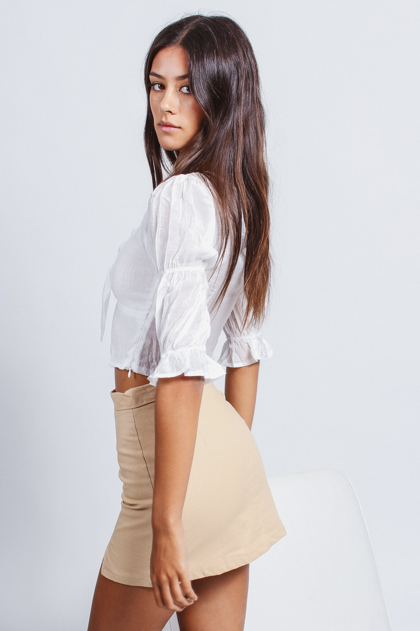 BILLIE SKIRT - BEIGE