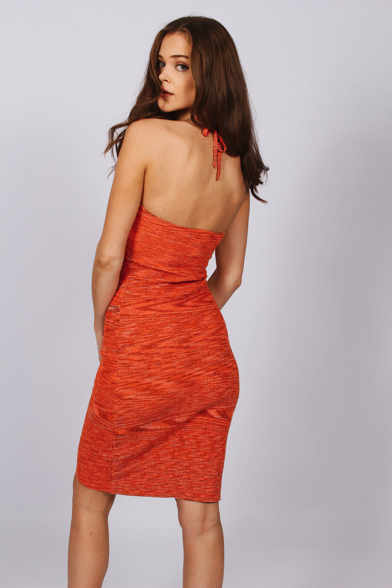 Sorrento Midi Dress- Orange