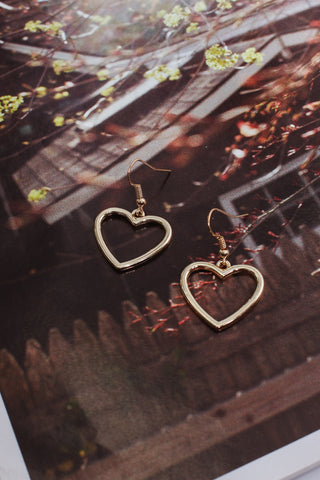 Plain heart hoops