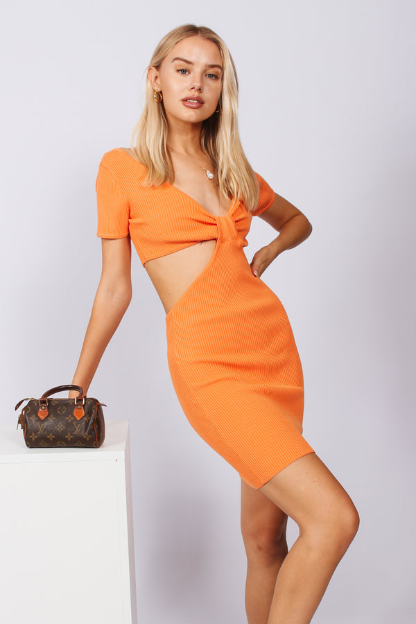 Cut Out Dress- Orange