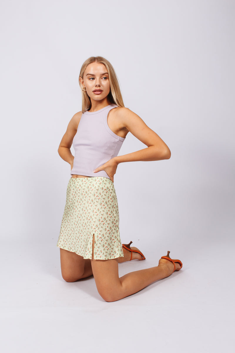 Paisley Yellow Skirt