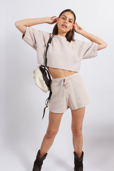 Sleepy set top- Beige