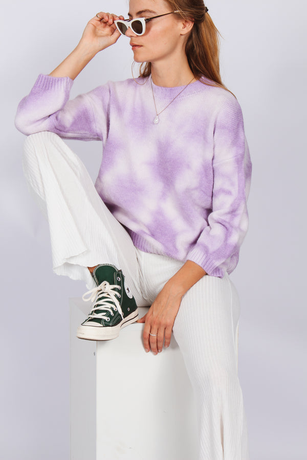 Tie Dye Jumper- Purple