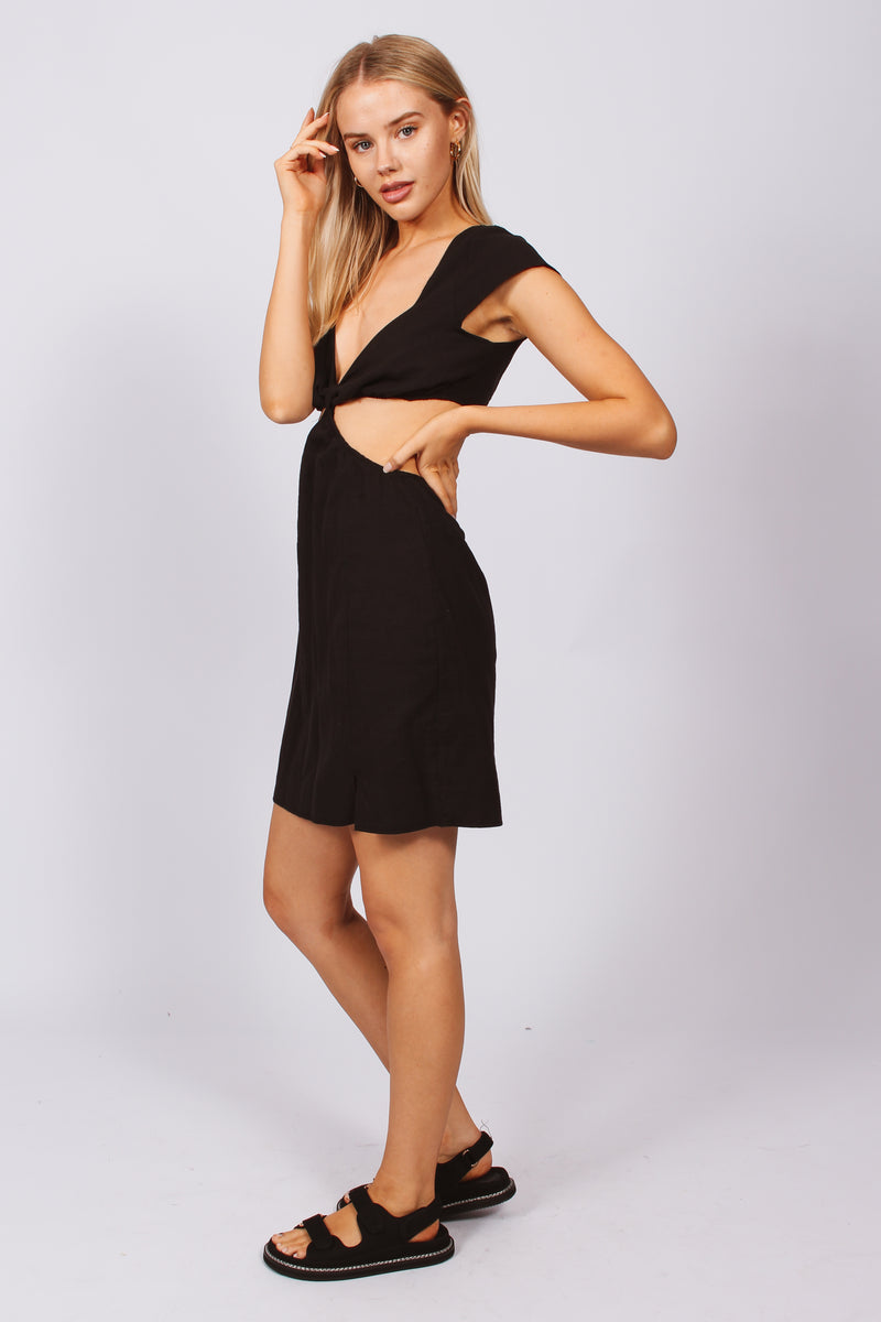 CUT OUT DRESS- black