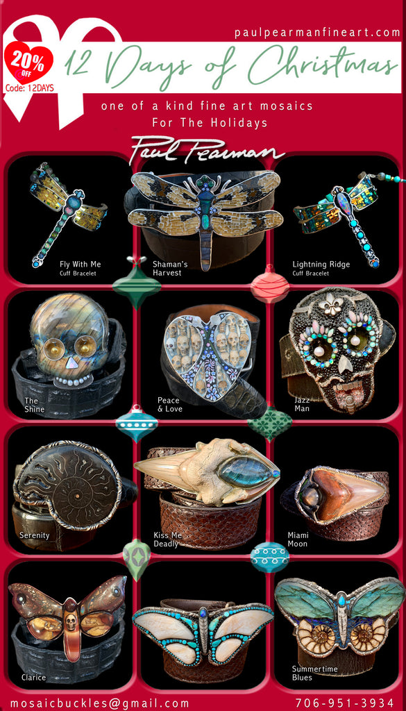 Paul Pearman Shop Now - 20%off Code: 12DAYS - New Buckles, Cuffs, Pendants, and Earrings!
