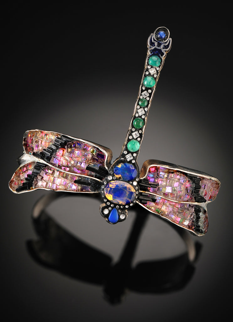 On The Wings of A Dragonfly - Cuff Bracelet