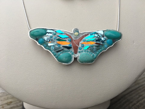 Blue Skies Butterfly Pendant