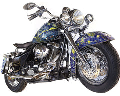 SOLD - Starry Night Custom 1998 Road King Harley Davidson
