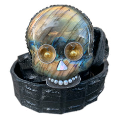 "Labradorite Skull ""The Shine"""