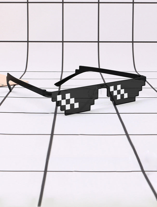 Black Thug Life Mosaic Glasses