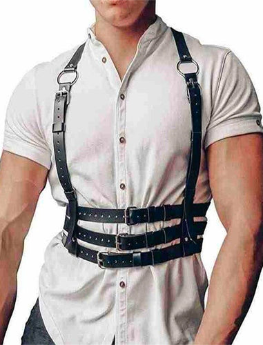 Faux Leather Belt Harness