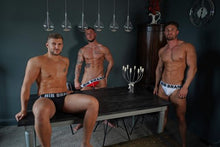 Load image into Gallery viewer, White Band-Black Front Jocks