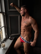 Load image into Gallery viewer, White Band-Red Front Jocks