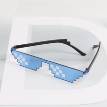 Load image into Gallery viewer, Blue Thug Life Mosaic Glasses