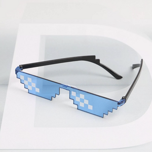 Blue Thug Life Mosaic Glasses