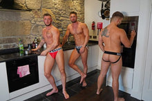 Load image into Gallery viewer, 3 Pairs of Black Band-Jockstraps Mixed Fronts